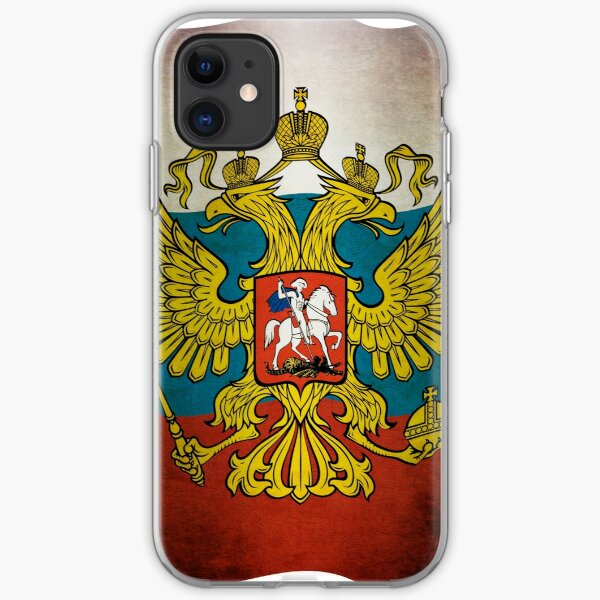 Waving flag of Russia iPhone Soft Case