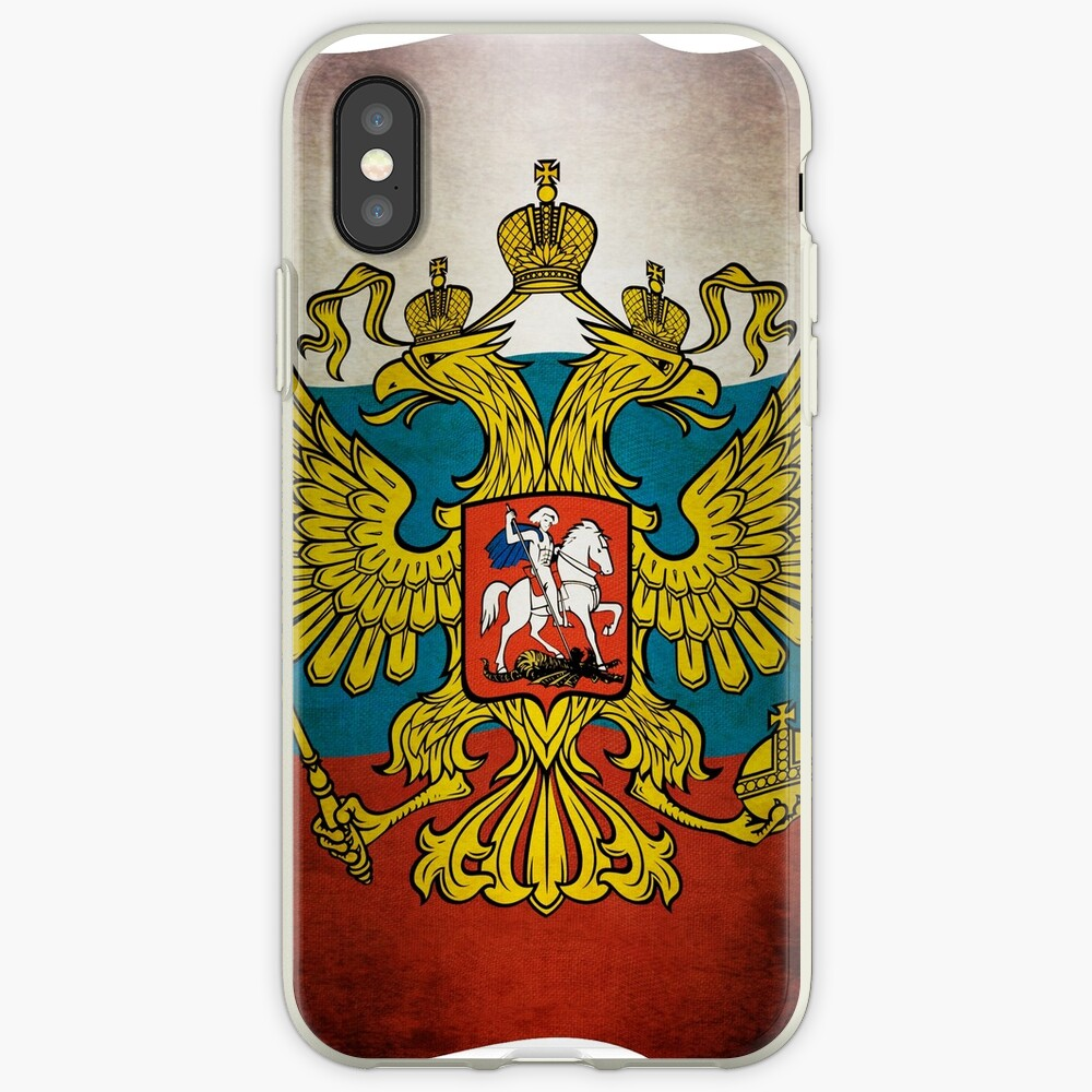 Waving flag of Russia iPhone-Hüllen & Cover