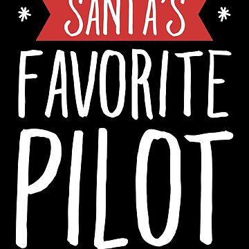Santa's favorite pilot - Funny aviator by alexmichel