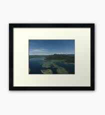 an inspiring Micronesia landscape Framed Print