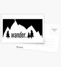 wander. white Postcards