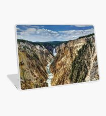 Grand Canyon of Yellowstone River and Lower Falls from Artist Point Laptop Skin