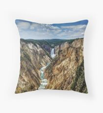 Grand Canyon of Yellowstone River and Lower Falls from Artist Point Throw Pillow