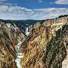 Grand Canyon of Yellowstone River and Lower Falls from Artist Point by John Kelly Photography (UK)
