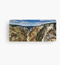Grand Canyon of Yellowstone River and Lower Falls from Artist Point Canvas Print