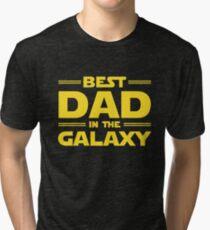Best Dad in The Galaxy Tri-blend T-Shirt