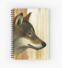 Portrait of a Wolf Spiral Notebook