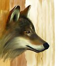 Portrait of a Wolf by artbywilf