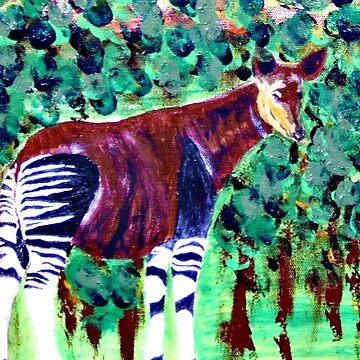 Okapi in the jungle by ditempli