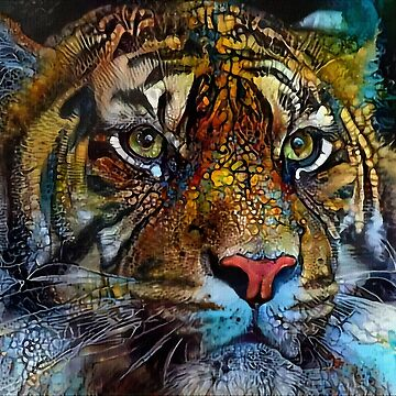 Tiger of the Seas - Léa Roche paintings - Tiger by LEAROCHE