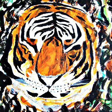 Tiger in camouflage by ditempli