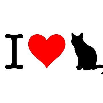 I Love Cat by fourretout