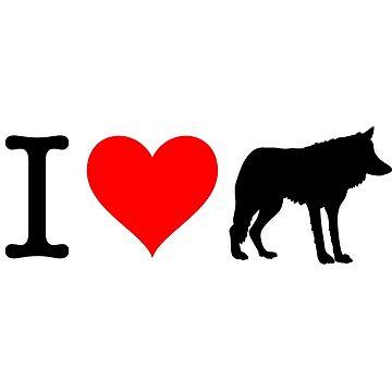 I Love Wolf by fourretout