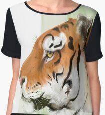 Portrait of a Tiger Chiffon Top