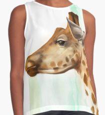 Portrait of a Giraffe Contrast Tank
