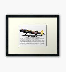Avro Lancaster B1 G-H Profile Framed Print