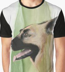 Portrait of a Norwegian Elk Hound Graphic T-Shirt