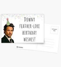 Robert Downey Jr birthday card, sticker packs, gifts, presents, ideas, for him, for her, best friend, boyfriend, girlfriend, wife, husband Postcards