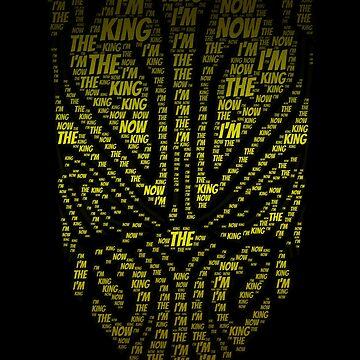 I'm your king Black Villain Superhero tshirt by kmpfanworks