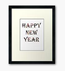 Creative Happy New Year Design Framed Print