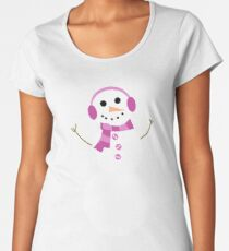 Snowman Premium Scoop T-Shirt
