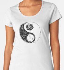 Yin Yang Black and White Dice Women's Premium T-Shirt