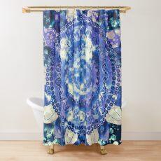 Boho Grape Fizz Mandala Shower Curtain