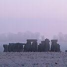 Moods of Stonehenge 3 - Morning Mist by Sharon Perrett