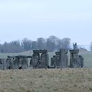 Moods of Stonehenge 4 - The day before the snow by Sharon Perrett