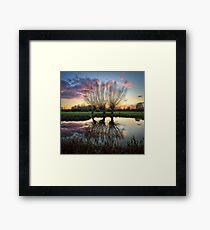 Autumn on the River Stour Framed Print