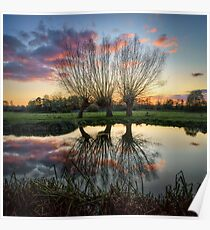 Autumn on the River Stour Poster
