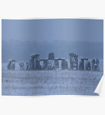 Moods of Stonehenge 5 - In the snow Poster