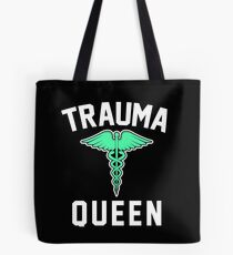 Trauma Queen Green  Tote Bag