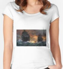 Ships drawn Women's Fitted Scoop T-Shirt