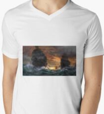 Ships drawn Men's V-Neck T-Shirt