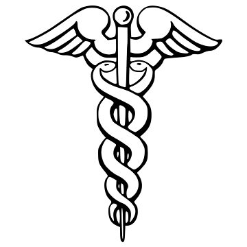 Medical symbol | Caduceus sign | Vector illustration on white background by igorsin