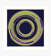 Abstract design - purple & green circles Art Print