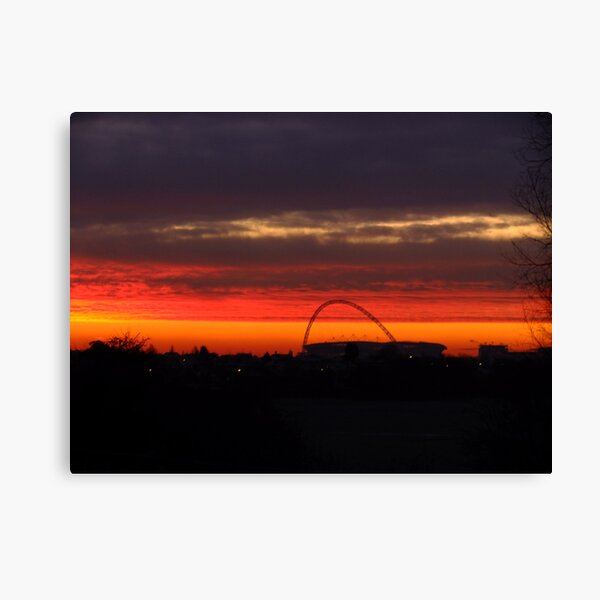 Red in the morning... Canvas Print