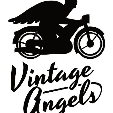 Vintage Angels - Motorcycle club - image on backside of a T-shirt by knappidesign