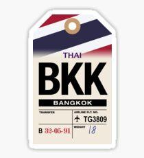 Bangkok (BKK) Airline Luggage Tag Sticker