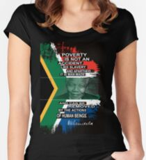 mandela Women's Fitted Scoop T-Shirt