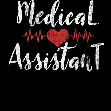 Medical Assistant Heartbeat Love Heart Nurse Scrub by kieranight