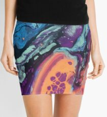 Technicolor Pour Mini Skirt