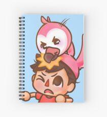Cuaderno de espiral AlbertsStuff Flamingo