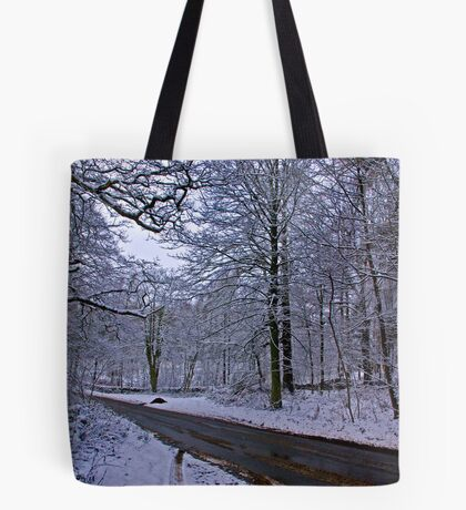 Road Through The Woods Tote Bag