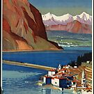 Vintage St. Gotthard Switzerland Travel Vacation Holiday Advertisement Art Poster by jnniepce