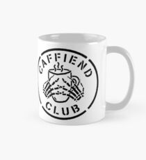Misfits Caffiend Club black & white stencil design Mug