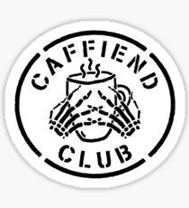 Misfits Caffiend Club black & white stencil design Sticker
