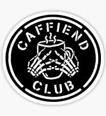 Misfits Caffiend Club white stencil design Sticker
