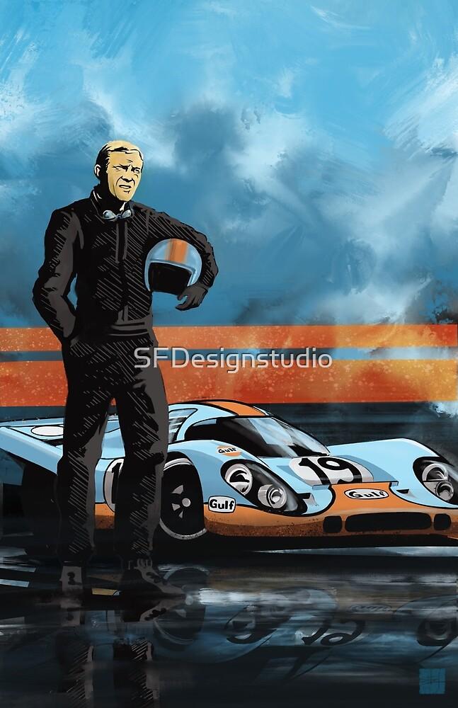 «Retro clásico 917 Racer» de SFDesignstudio